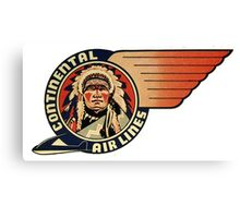 Continental Airlines Canvas Print