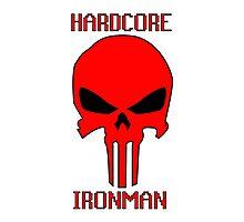 Runescape Hardcore Ironman Skull Photographic Print