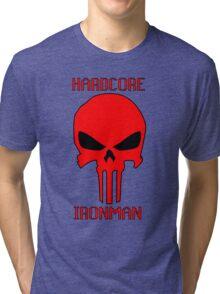 Runescape Hardcore Ironman Skull Tri-blend T-Shirt