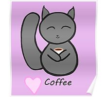 squirrel loves coffee Poster
