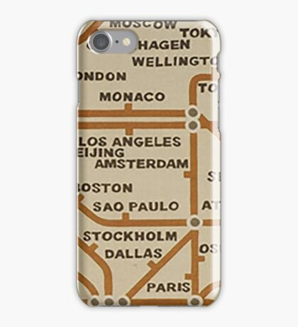 Travel by tube iPhone Case/Skin