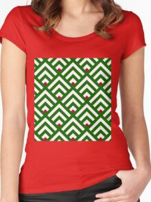 Bless our mountain greenery home Women's Fitted Scoop T-Shirt
