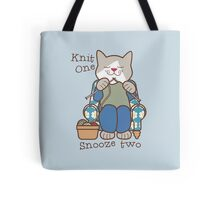 Knit One Snooze Two Knitting Kitty Tote Bag
