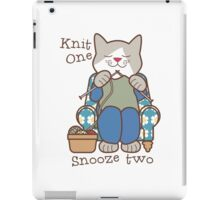 Knit One Snooze Two Knitting Kitty iPad Case/Skin