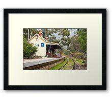 Station Café Framed Print