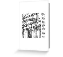 Complesso di San Firenze (black line) Greeting Card