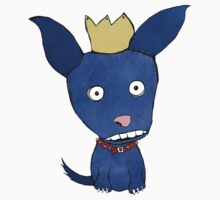 Blue Dog With Crown One Piece - Long Sleeve