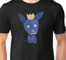 Blue Dog With Crown Unisex T-Shirt