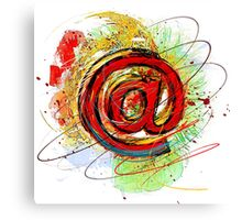 Email Internet Canvas Print