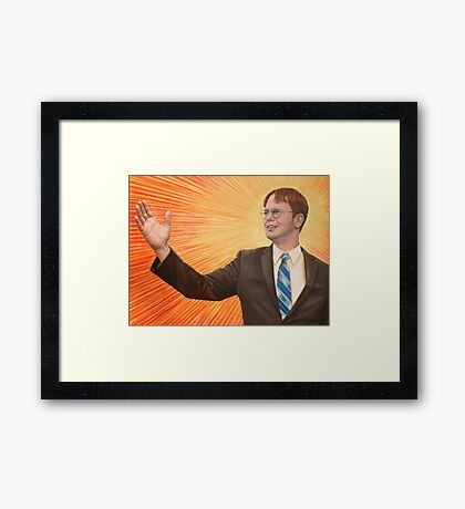 Dwight  Schrute The Messiah Framed Print