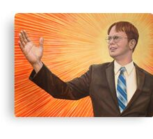 Dwight  Schrute The Messiah Canvas Print