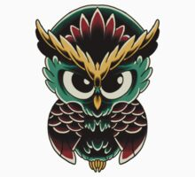 Neo-Traditional Owl  One Piece - Short Sleeve