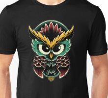 Neo-Traditional Owl  Unisex T-Shirt