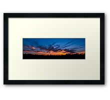 Savage Sunset Framed Print
