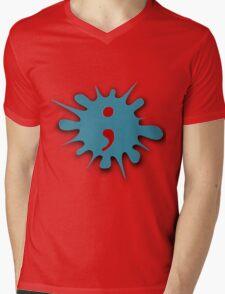 The Semicolon Mens V-Neck T-Shirt