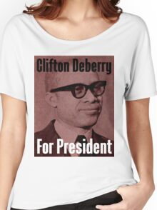 Clifton Deberry For President Women's Relaxed Fit T-Shirt