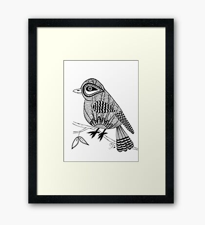 'Beaker' the bird Framed Print