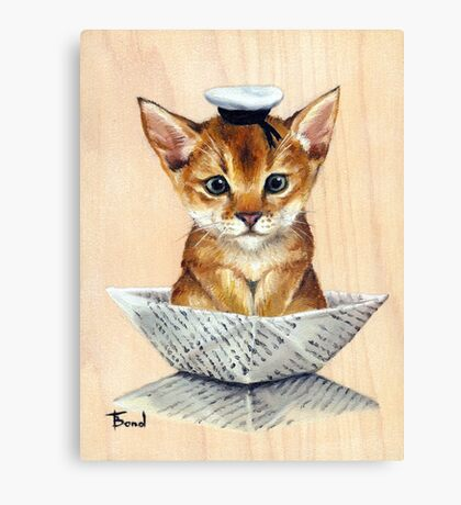 Sailor Cat Canvas Print