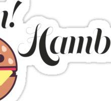 Yum! Hamburger Sticker
