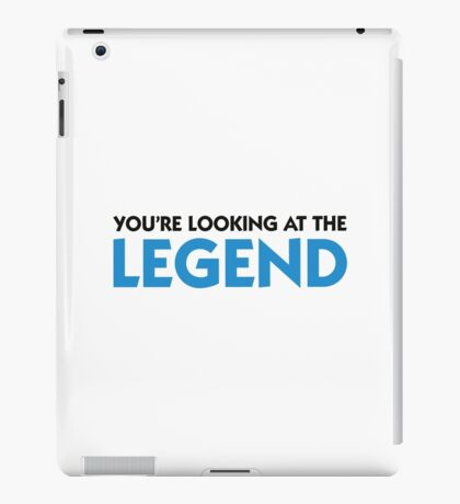The legend is in front of you! iPad Case/Skin