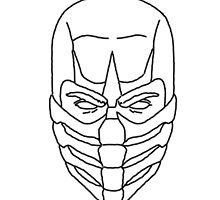 Mortal Kombat Scorpion - Outline Sketch by Electrifyyy