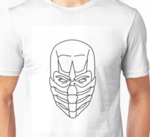 Mortal Kombat Scorpion - Outline Sketch Unisex T-Shirt