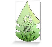 Peridot in human clothing  Greeting Card
