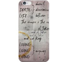 love doesn't discriminate iPhone Case/Skin