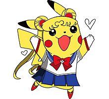Sailor Pikachu Photographic Print