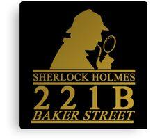 Sherlock Holmes Address 2 Canvas Print
