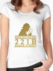 Sherlock Holmes Address 2 Women's Fitted Scoop T-Shirt
