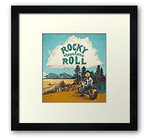ROCK MTN ROLL Framed Print