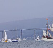 Tall Ships Leaving Hobart Sticker