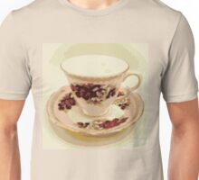 Pink and Red Roses Vintage Teacup Still Life Photography  Unisex T-Shirt