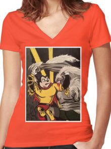 Mighty Mouse Women's Fitted V-Neck T-Shirt