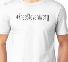 #FreeStevenAvery - Black Clean Unisex T-Shirt