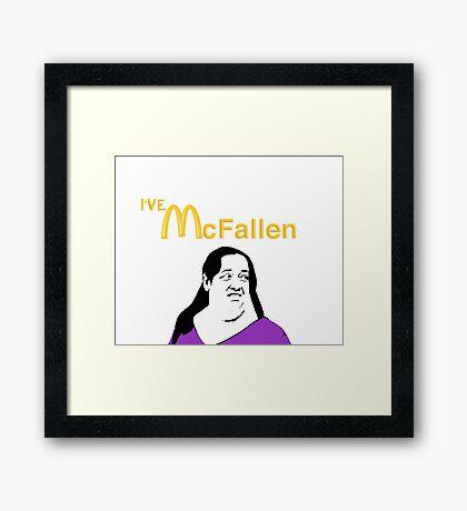 """McFallen"" Vine Parody Framed Print"