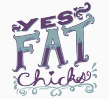 Yes Fat Chicks- Purple and Blue Baby Tee