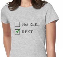 Rekt Checkbox Womens Fitted T-Shirt
