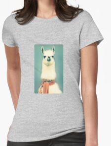 Llama Womens Fitted T-Shirt