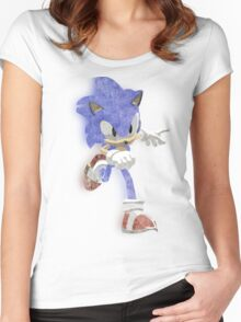 Faded Sonic Women's Fitted Scoop T-Shirt