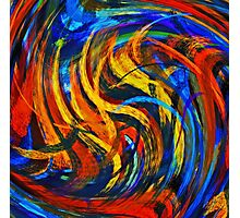 Modern Colorful Swirl Abstract Art Photographic Print