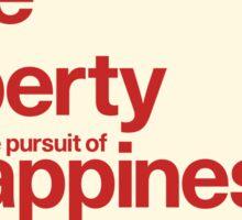 Declaration of Independence Poster Sticker