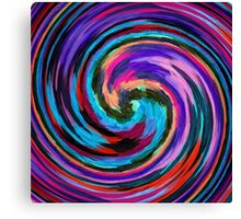Modern Colorful Swirl Abstract Art #2 Canvas Print