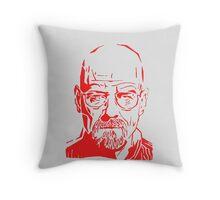 Walter White Heisenberg Breaking Bad RedNeon Throw Pillow