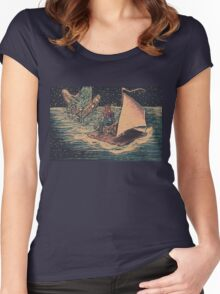 Out to Sea Women's Fitted Scoop T-Shirt