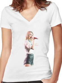 Red Tour Taylor Swift Women's Fitted V-Neck T-Shirt