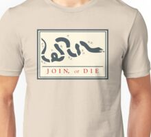 Ben Franklin Join or Die Cartoon Poster Unisex T-Shirt