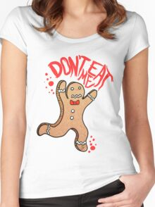 Don't eat me Women's Fitted Scoop T-Shirt
