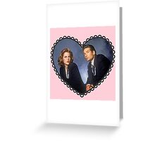 mulder and scully heart Greeting Card